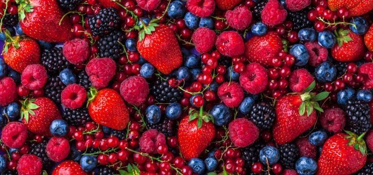 frutos vermelhos variados