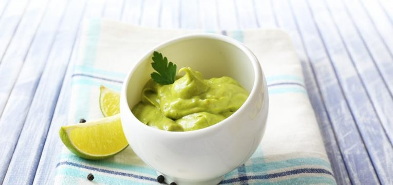 Mousse de lima low carb/vegan