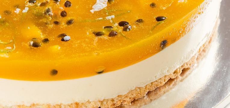 Cheesecake de maracuja com limao e coco saudavel
