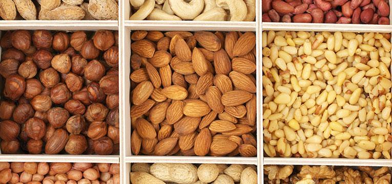frutos secos para dentes saudáveis