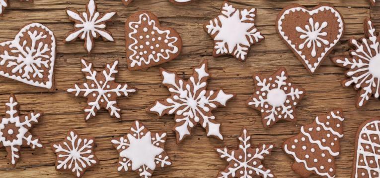Bolachas de Natal saudzveis com aveia e sementes