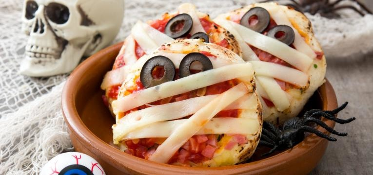 Pizza facil de Halloween