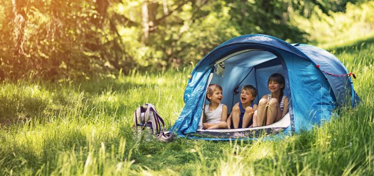 acampamento no bosque