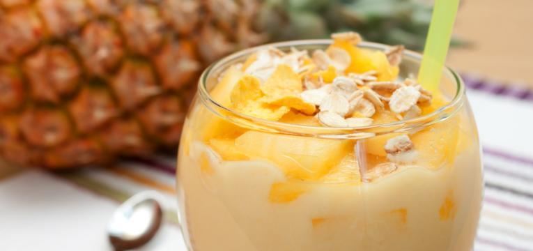 batido de amêndoa e ananás em receitas da dieta atkins