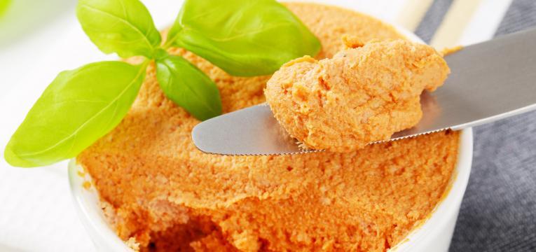 pasta de grão de bico e pastas saudáveis