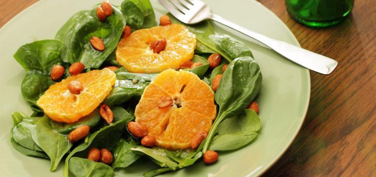 salada com laranja
