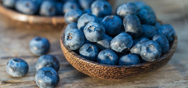 mirtilos como alimentos para manter a saúde do idoso