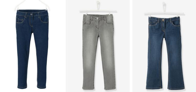 jeans meninas vertbaudet