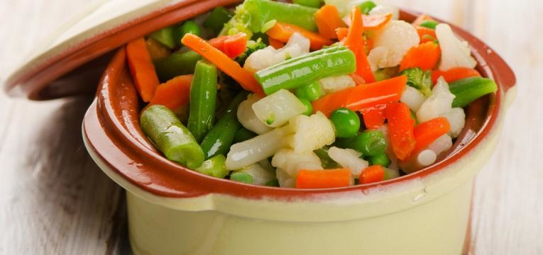 legumes ao vapor