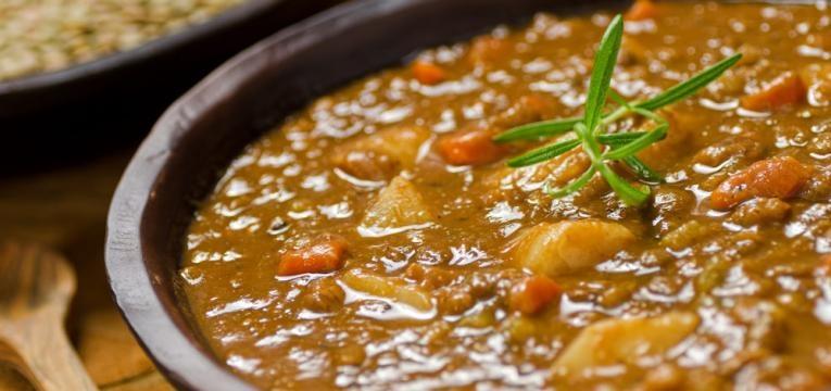 Estufado de lentilhas