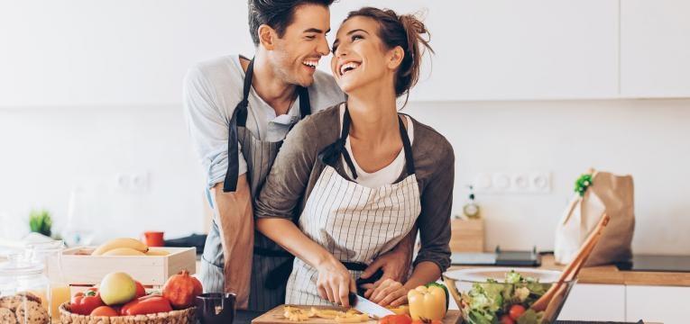 casal vegan feliz
