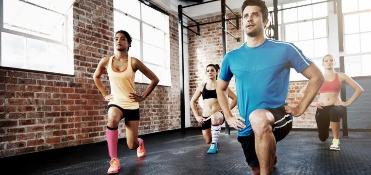 lunges e exercicio de elevada intensidade