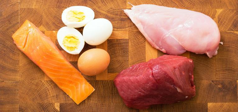Carnes magras, peixe e ovos