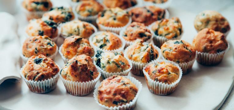 muffins de atum e ricotta