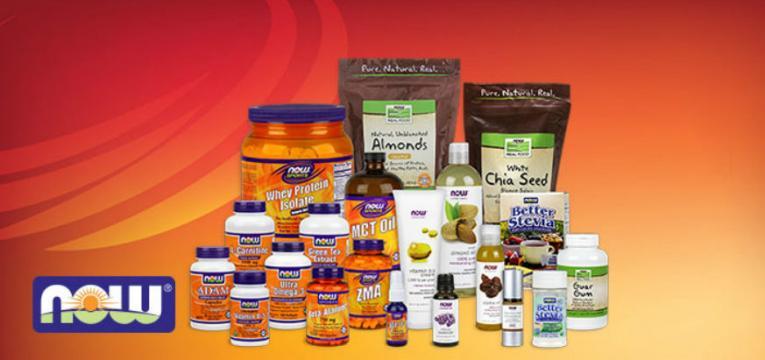 now foods em marcas de suplementos