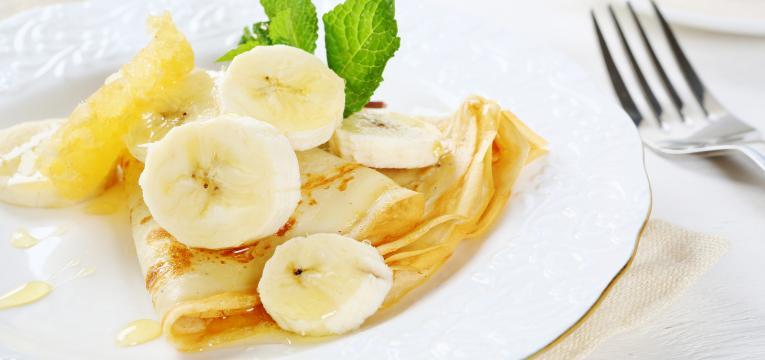 crepioca fit de banana e mel