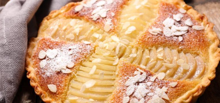 Sobremesas em 5 minutos e Tarte rapida de amendoa em 5 minutos
