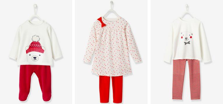 pijamas de crianca natal vertbaudet