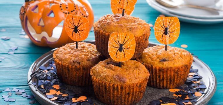 Receitas com abobora e Peculiares muffins de abobora e maca