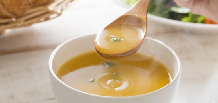 sopa com vinagre de cidra