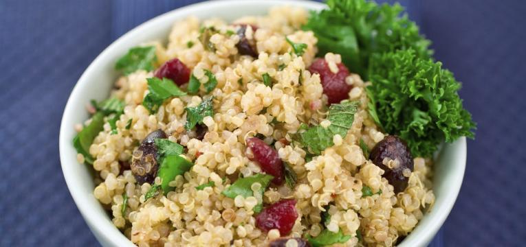 quinoa e churrasco saudavel