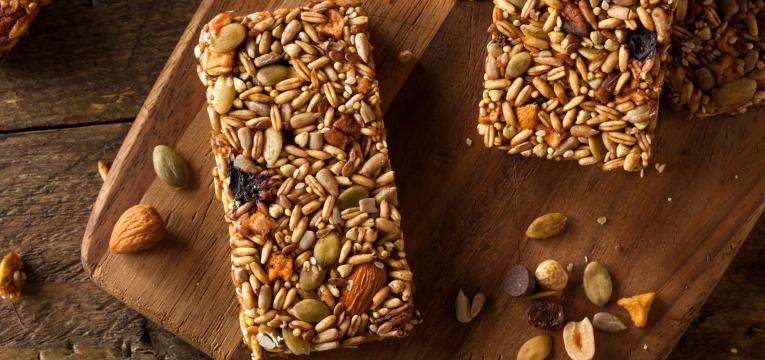 barras de sementes de compota