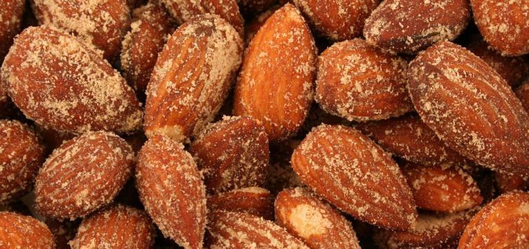 Amendoas torradas doces na Bimby
