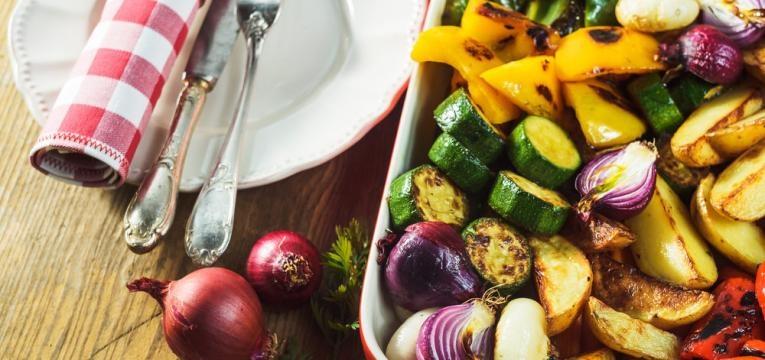 Receitas para a semana e legumes ao forno