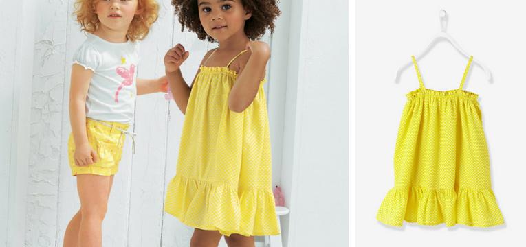 roupa ferias menina amarelo
