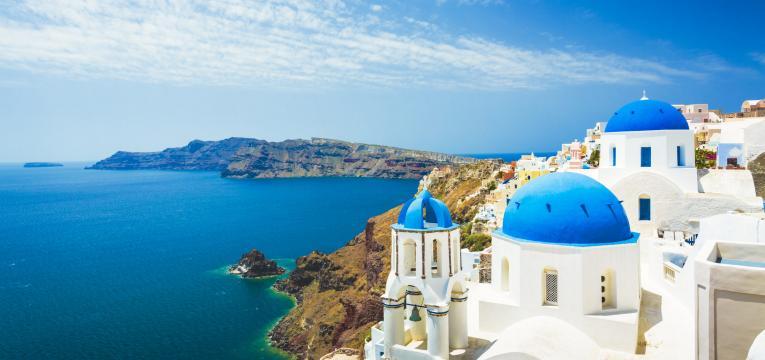 santorini como destinos de férias