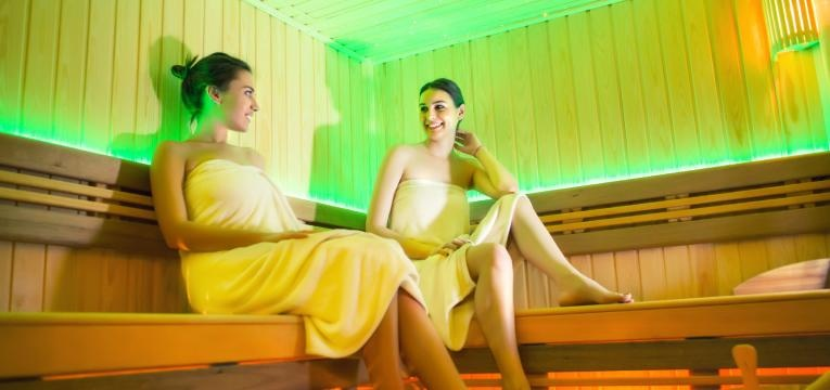 mulheres na sauna