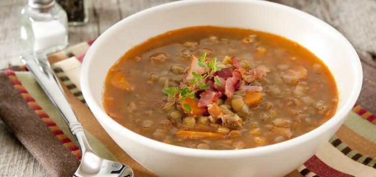 sopa de lentilhas e cenoura em panela de cozedura lenta receitas