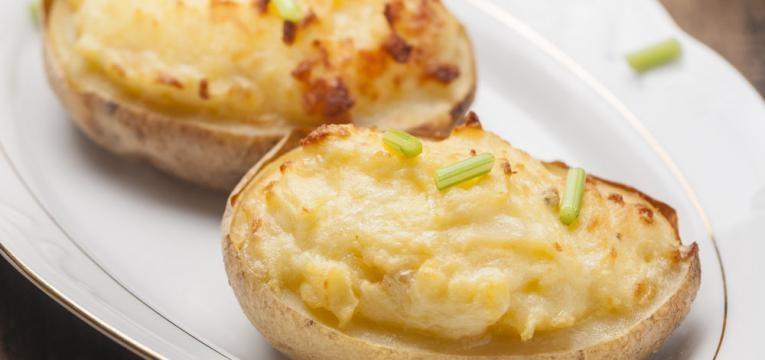 Batatas com chourico