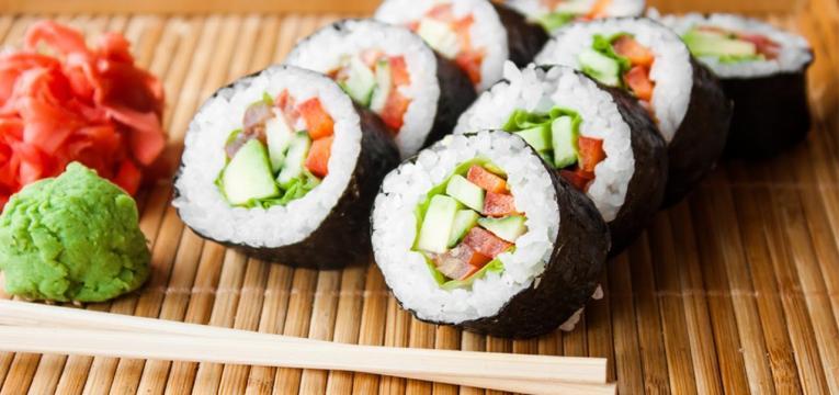 sushi e cuidados alimentares na quimioterapia