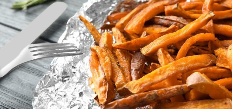 Palitos de batata-doce assados