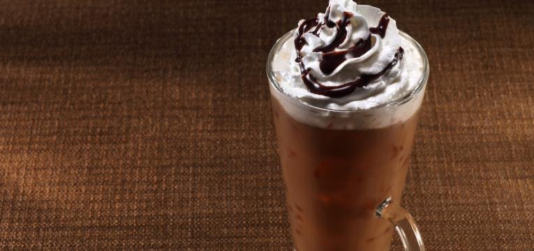 café gelado de nutella em receitas de cafés