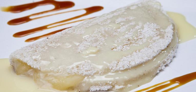 tapioca com leite condensado em tapioca doce