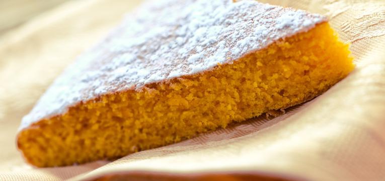 tarte de laranja e coco