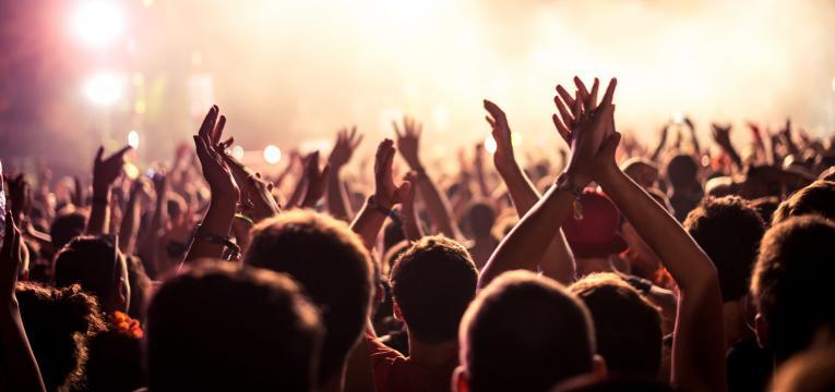 bilhete para um concerto