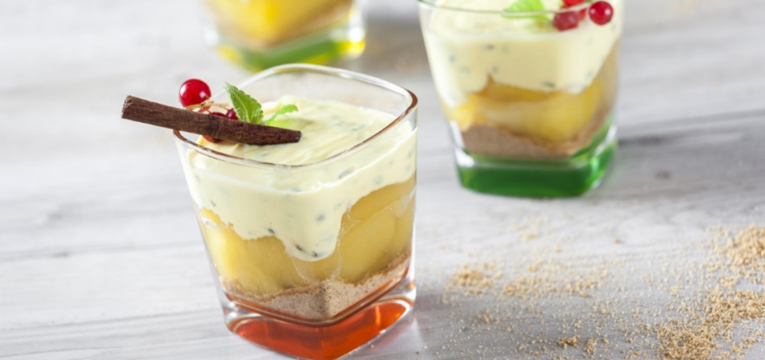 trifle de maracuja e maca