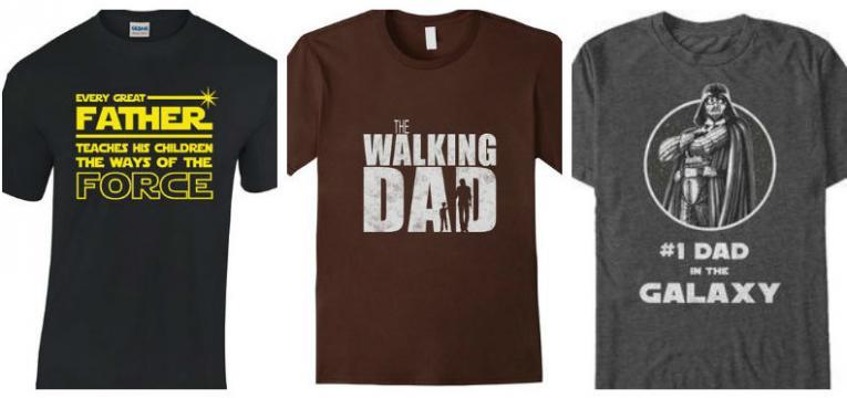 t-shirts cinema e televisão e t-shirts para o dia do pai