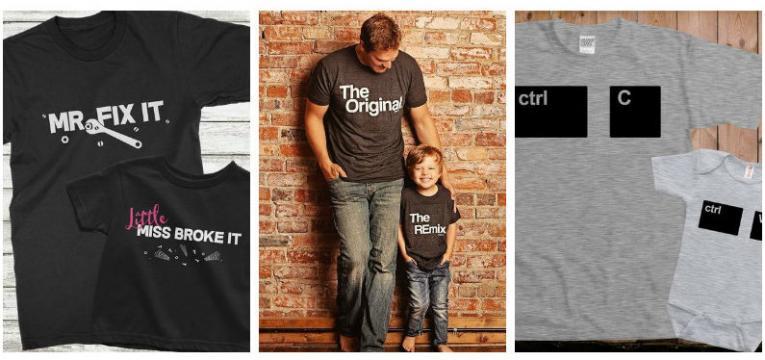 t-shirts pai e filho e t-shirts para o dia do pai