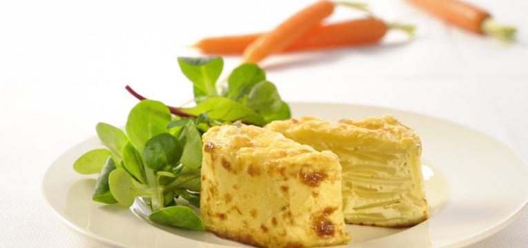 soufflé de cenoura e pratos sem carne