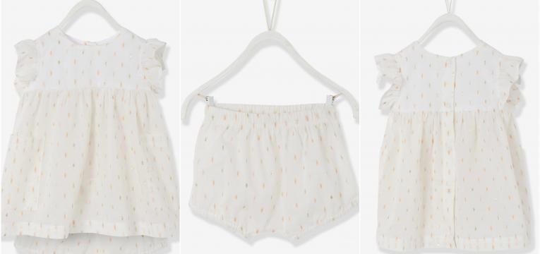 vestidos bordados em presentes para baby shower de menina