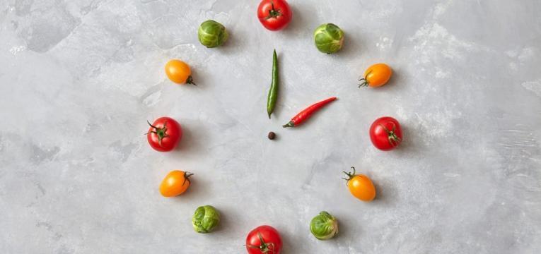 relogio de vegetais