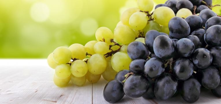 uvas de duas qualidades