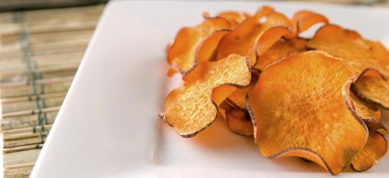 chips de batata-doce