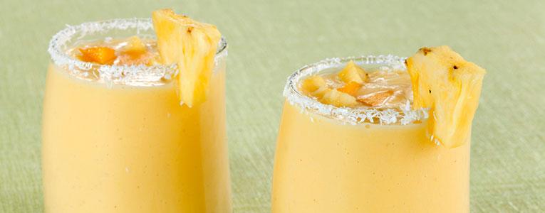 batido proteico de ananas