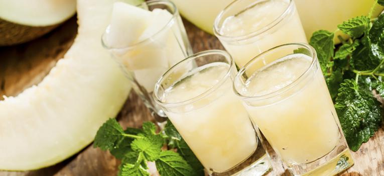Batido de meloa e água de coco