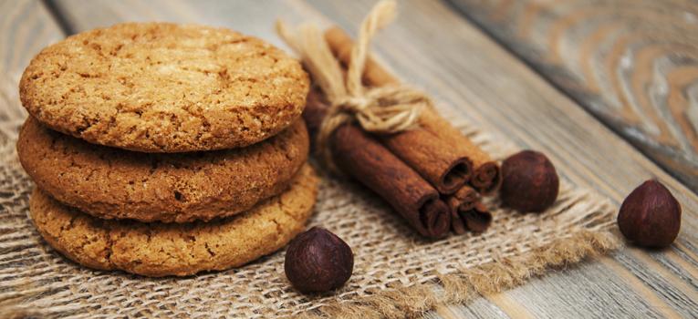 Biscoitos de aveia e espelta